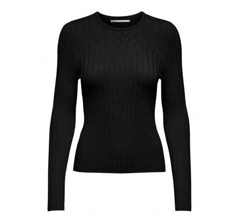 Only noos onlmolli life l/s pullover knt negro - Imagen 1