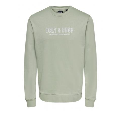 Only & sons onsalberto life reg logo crew neck sweat verde - Imagen 3