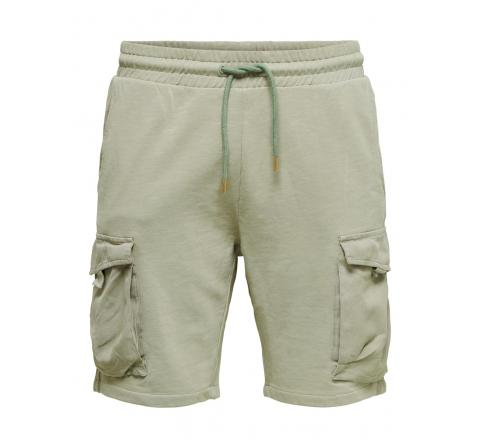 Only & sons onsnicky life sweat shorts  nf 9126 verde agua - Imagen 1
