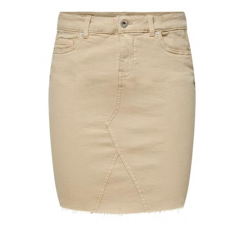 Only onlfan life col reg skirt raw edge pnt humus - Imagen 1