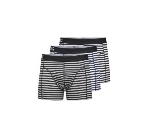 Only & sons onsjan stripe trunk 3-pack blanco - Imagen 1