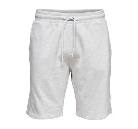 Only & sons onselmer reg sweat shorts gris - Imagen 3