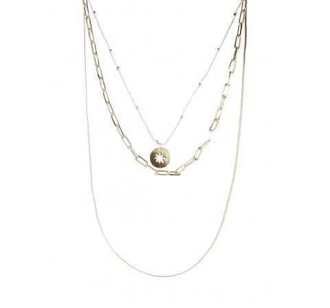 Pieces pclinea combi necklace oro - Imagen 1