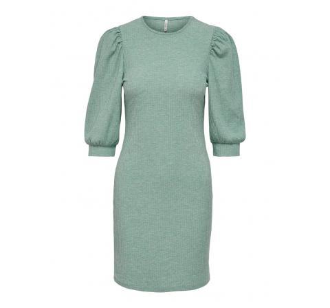 Only onlnella 2/4 puff dress jrs verde - Imagen 1
