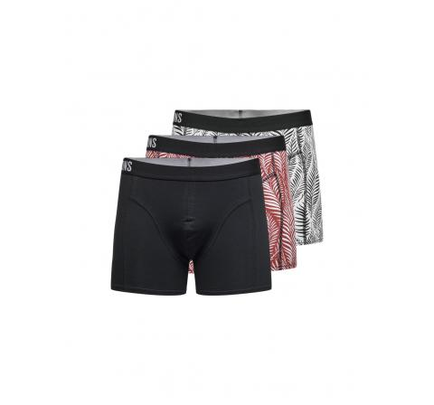 Only & sons onsjerry print trunk 3-pack negro - Imagen 1