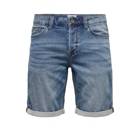 Only & sons noos onsply life jog blue shorts pk 8584 noos denim oscuro - Imagen 1