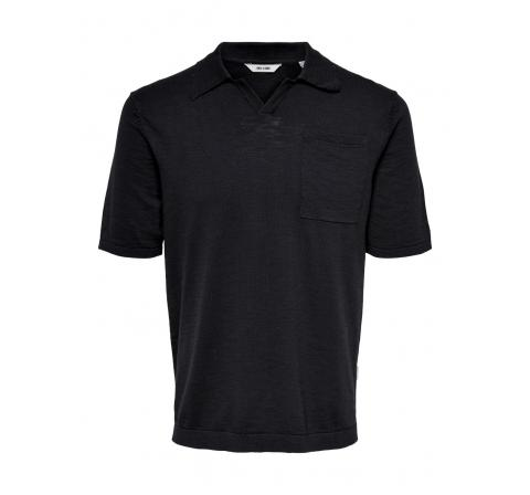 Only & sons noos onsace life 12 slub ss polo knit noos marino - Imagen 1