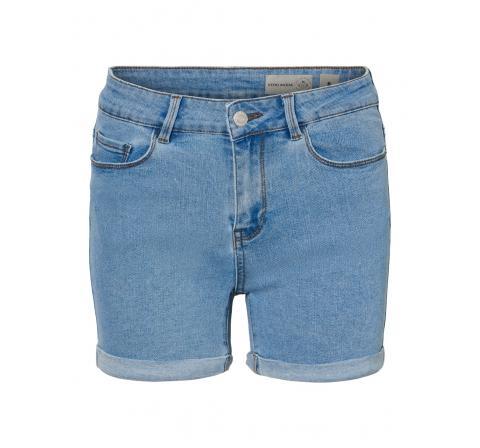 Veromoda noos vmhot seven nw fold shorts mix ga noos denim claro - Imagen 1
