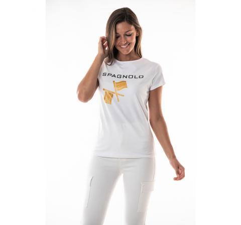 Spagnolo mujer cmt spagnolo banderas dorado blanco - Imagen 1
