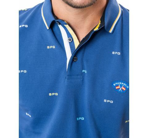 Spagnolo hombre pl pique estampado spg azulon - Imagen 1