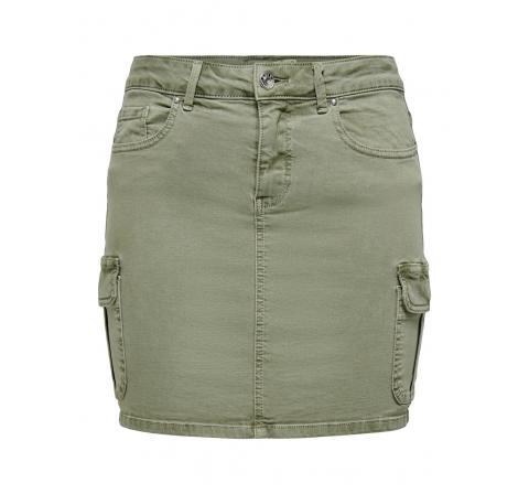 Only noos onlmissouri life rg cargo skirt pnt noos beige - Imagen 1