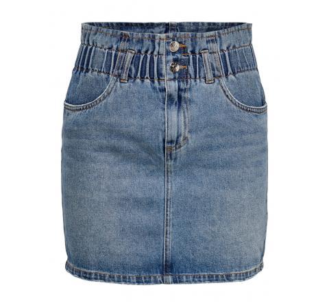 Only noos onlmillie life hw mini paper skirt noos denim medio - Imagen 1