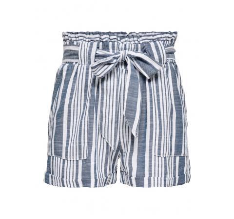 Only onllavana stripe dnm paperbag shorts blanco - Imagen 1