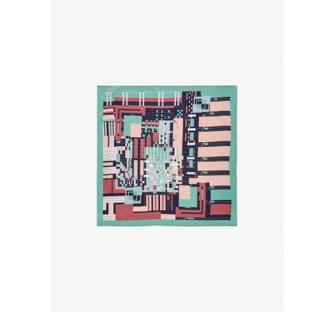 Pieces pcnetty small square scarf multicolor - Imagen 1