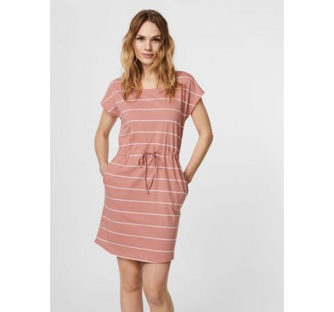 Veromoda vmapril ss short dress ga color rosa - Imagen 1