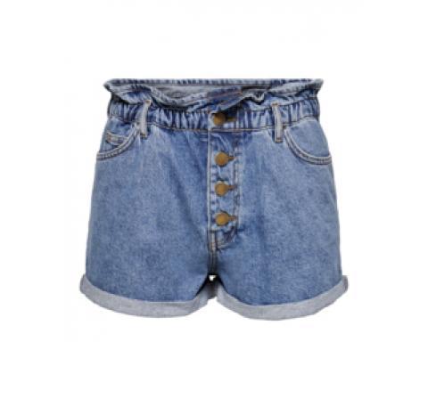 Only onlcuba life paperbag dnm shorts noos denim medio - Imagen 1