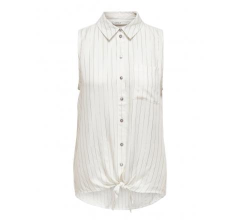 Only noos onlnanna s/l shirt cs wvn blanco - Imagen 1