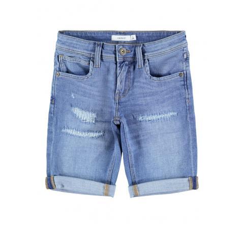 Name it kids niÑo nkmsofus dnmatexas long shorts bet denim claro - Imagen 1