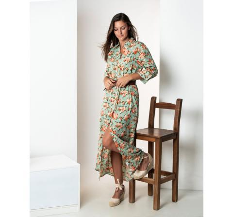 Spagnolo mujer vs camisero largo bols. floral - Imagen 1