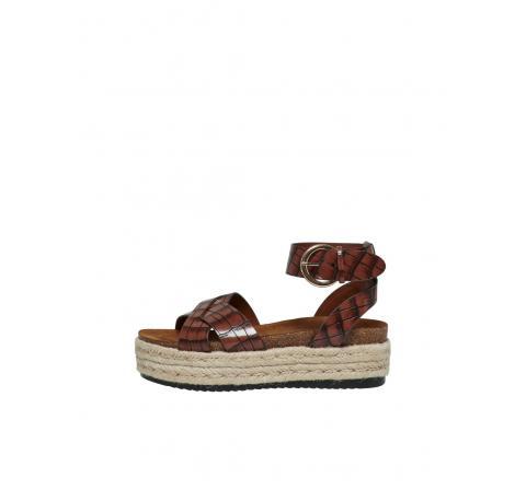 Only shoes onlmauve-1 wrap espadrille sandal marron - Imagen 1