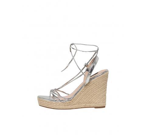 Only shoes onlamelia-10 wrap knot heeled sandal plata - Imagen 1