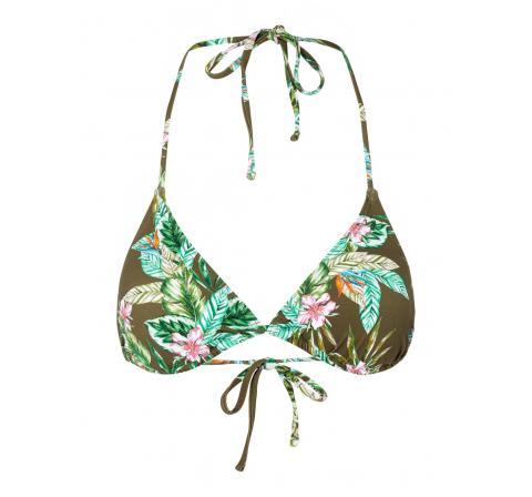 Pieces pcgaomi bikini triangle bra sww marron - Imagen 1