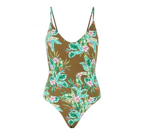 Pieces pcgaomi swimsuit sww marron - Imagen 1