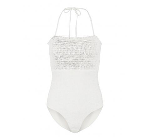Pieces pcgaya smock swimsuit sww blanco - Imagen 1