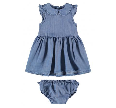 Name it baby niÑa nbfathit dnm 2522 s/s dress w trousers denim medio - Imagen 1